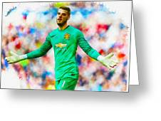 David De Gea Of Manchester United Greeting Card
