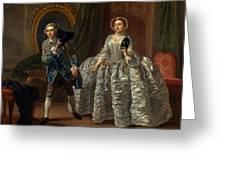 David Garrick And Mrs. Pritchard In Benjamin Hoadley's The Suspicious Husband  Greeting Card