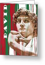 David - Michelangelo - Stylised Modern Drawing Art Sketch  Greeting Card