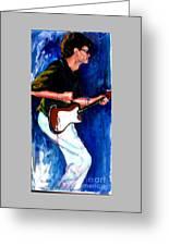 David On Guitar Greeting Card
