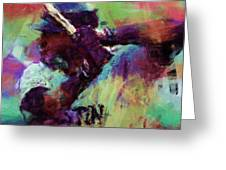 David Ortiz Abstract Greeting Card