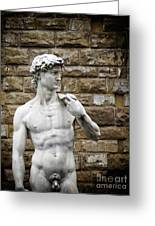 David Statue Greeting Card