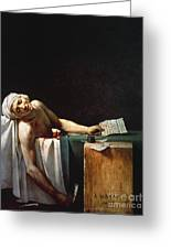 David: The Death Of Marat Greeting Card