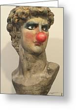 David With Makeup And Clown Nose 1 Greeting Card