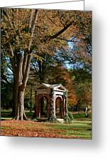 Davidson College Old Well In Autumn Greeting Card