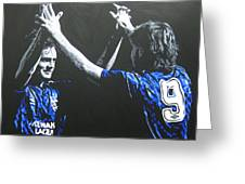 Davie Cooper - Ally Mccoist - Glasgow Rangers Fc Greeting Card