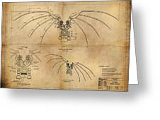 Davinci's Wings Greeting Card