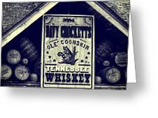 Davy Crocketts Tennessee Whiskey Greeting Card