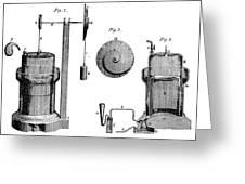 Davy: Gas Machine, 1800 Greeting Card