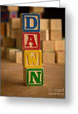 Dawn - Alphabet Blocks Greeting Card