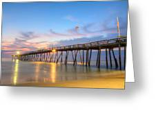 Dawn At Avalon Pier Greeting Card