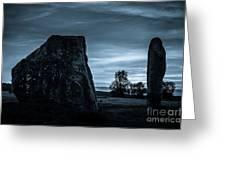 Dawn At Avebury Stone Circle Greeting Card