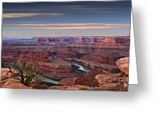 Dawn At Dead Horse Point Greeting Card