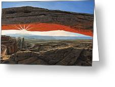 Dawn At Mesa Arch Canyonlands Utah Greeting Card