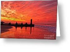 Dawn At The Beach Greeting Card