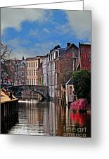 Dawn In Bruges Greeting Card