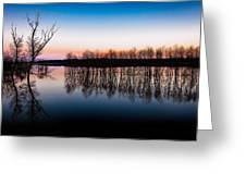 Dawn In The Flood Greeting Card