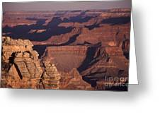 Dawn In The Grand Canyon Greeting Card