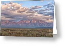 Dawn In The Grand Tetons Greeting Card