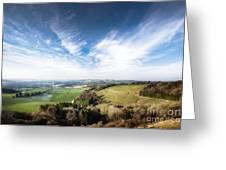 Dawn Landscape In Springtime Greeting Card
