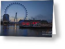 Dawn Light At The London Eye Greeting Card by Donald Davis