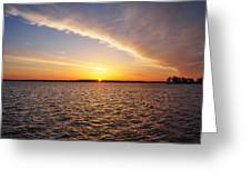 Dawn On The Chesapeak - St Michael's Maryland Greeting Card