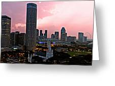 Dawn Over Singapore Greeting Card