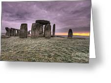 Dawn Over The Stones  Greeting Card