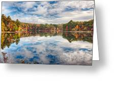 Dawn Reflection Of Fall Colors Greeting Card
