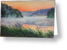 Dawn Reflection Study Greeting Card