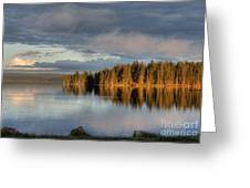 Dawn Reflections On Pelican Bay Greeting Card