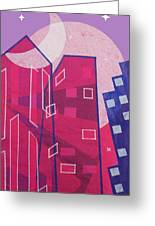 Dawn To Dusk In The City Greeting Card by Julia and David Bowman