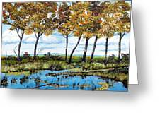 Dawn's Blue Waters Edge  Greeting Card