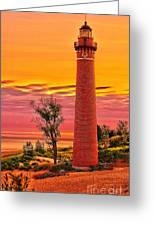 Dawn's Light At Little Sable Greeting Card