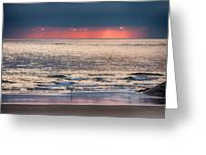 Dawns Red Sky Reflected Greeting Card