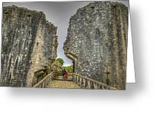 Day Among The Ruins Greeting Card