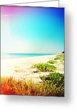 Day At The Beach Photography Light Leaks Greeting Card