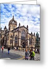 Day At The High Kirk Greeting Card