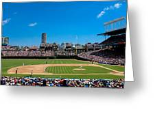 Day Game At Wrigley Field Greeting Card
