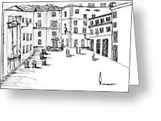 Day In Piazza Di Campitelli Greeting Card