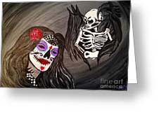 Day Of The Dead Good Vs Evil Greeting Card