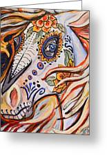 Day Of The Dead Horse Greeting Card