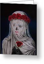 Day Of The Dead Veiled Bride Greeting Card