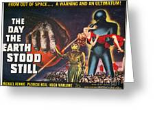 Day The Earth Stood Still Greeting Card