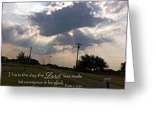 Day The Lord Made Psalm 118 Greeting Card