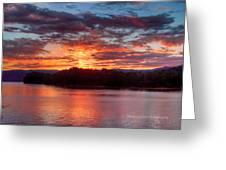 Daybreak Lake Ocoee Greeting Card by Paul Herrmann