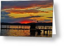 Daybreak On The Docks Greeting Card