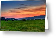 Daybreak On The Farm Greeting Card by Paul Herrmann