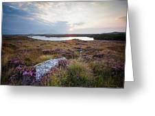 Daybreak Over Connemara Bog Greeting Card