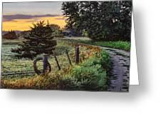 Daybreak Southwest Corner Fenceline Greeting Card